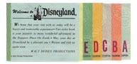 A Ticket book, originally sold at Disneyland